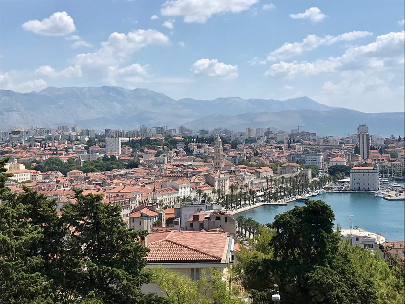 view of Split and harbor