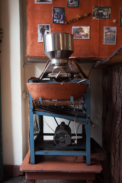 The source of some excellent coffee - a noisy grinder in a little coffee shop we loved.