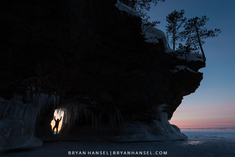 Apostle Islands Ice Cave at Sunset