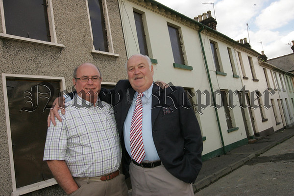 Pictured are Cousins Jim and John Dalzell who lived in No.4 and No. 8 Sinclair Street respectively from 1939 until 1963. Sinclair Street will be demolished as part of the Canal Street Regeneration Project. 07W34N8