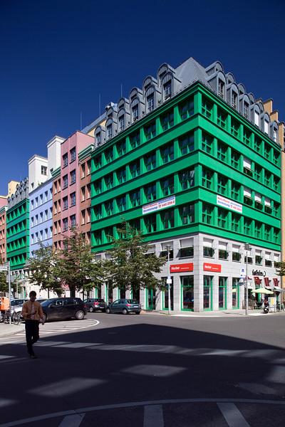 Quartier Schützenstrasse, postmodernist building by Aldo Rossi, corner of Charlottenstrasse and Zimmerstrasse, Berlin, Germany