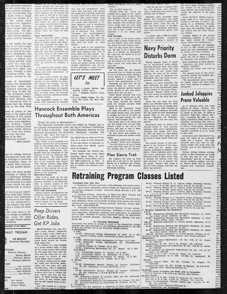 Daily Trojan, Vol. 34, No. 70, January 12, 1943