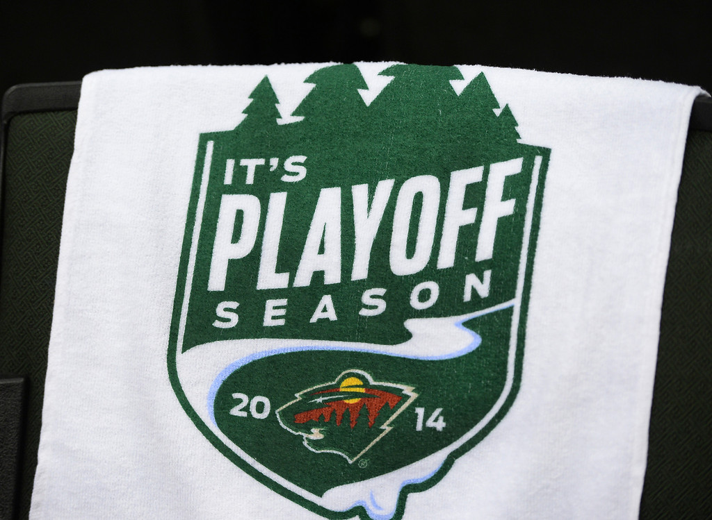 . The Minnesota Wild hosted the Colorado Avalance at the Xcel Energy Center in St. Paul Monday night, April 21, 2014. (Photo by Karl Gehring/The Denver Post)
