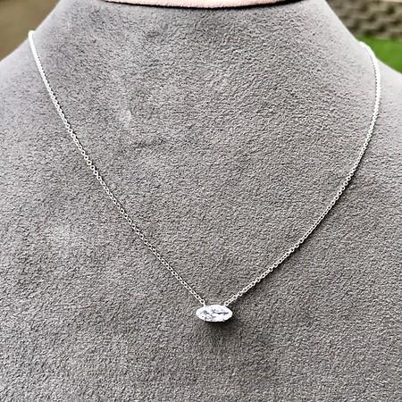 .53ct Antique Moval Cut Diamond Pendant GIA J VS2