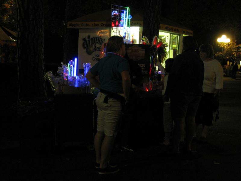A glow-merchandise cart.