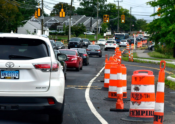 9/26/2018 Mike Orazzi   Staff Route 6 construction in Bristol between Mix Street and Camp Street Wednesday.