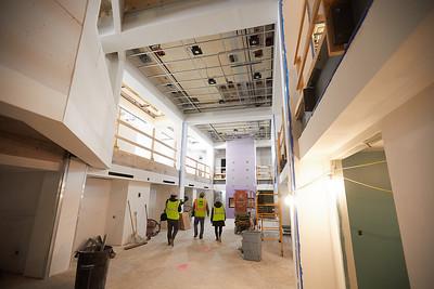 2019 UWL Winter Wittich Hall Construction