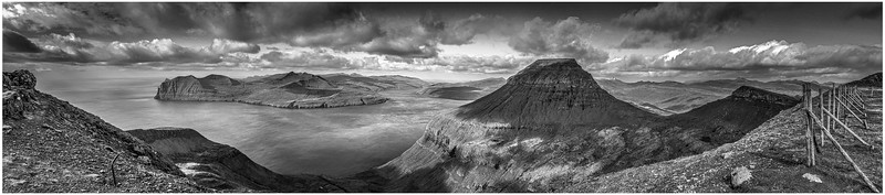 Faroe Panorama    black and White Photography by Wayne Heim