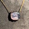 'INV My Letter' Pale Pink Glass Rebus Pendant, by Seal & Scribe 28