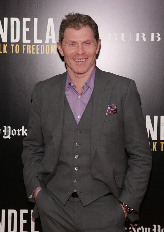 ". Chef Bobby Flay attends a screening of ""Mandela: Long Walk To Freedom\"" hosted by U2 and Anna Wintour on Monday, Nov., 25, 2013 in New York. (Photo by Andy Kropa/Invision/AP)"