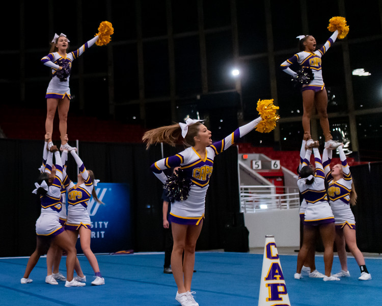 Broughton cheerleading Pre-States. November 16, 2019. D4S_1770