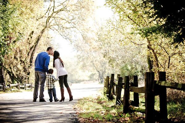 Jenny + Scott = Rylie (Family Photography, Henry Cowell Park, Felton, California)