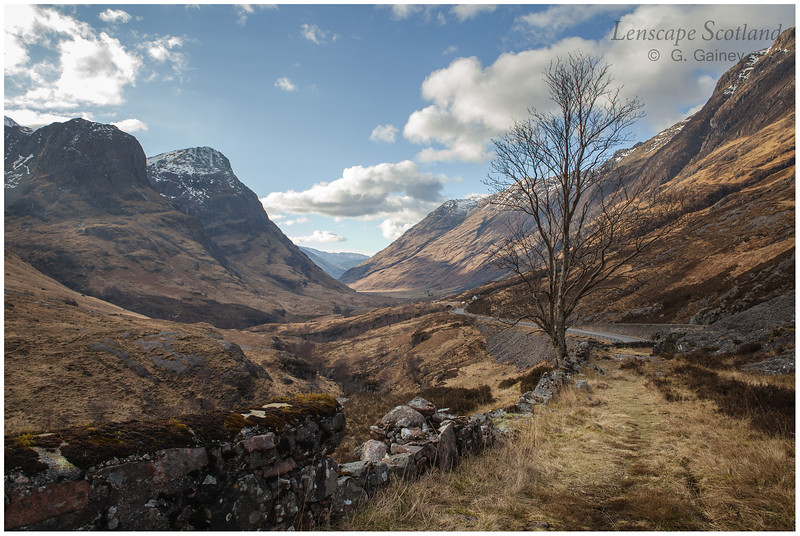 The old road through Glen Coe