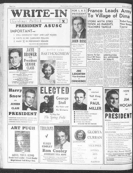 Daily Trojan, Vol. 28, No. 112, April 09, 1937
