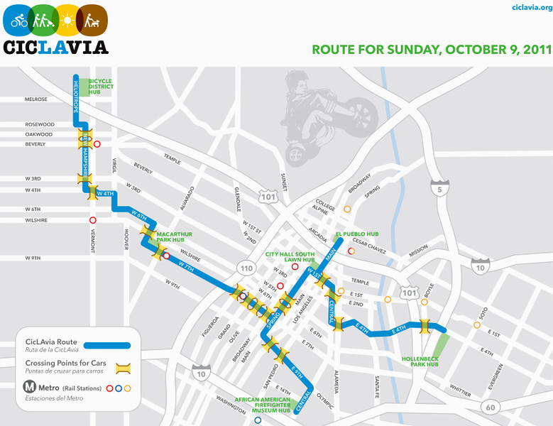 The Route - CicLAvia 2011 - Los Angeles, CA - October 9, 2011