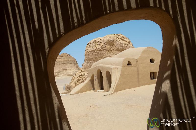 Desert Architecture and Shapes - Fayoum, Egypt