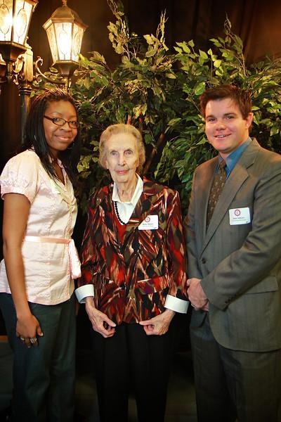 Betty Moore, John Salyers, Shawan Elder. Scholarship Luncheon at Gardner-Webb University.