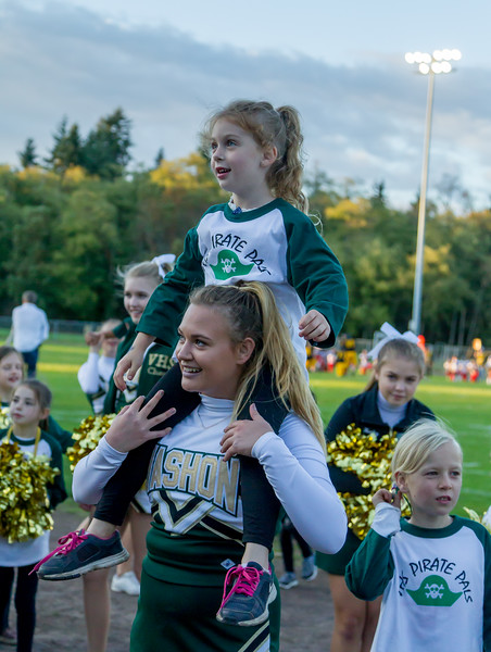 STUNTING Set five: Cheer and Pirate Pals 2017 at Football v Coupeville 09/29/2017