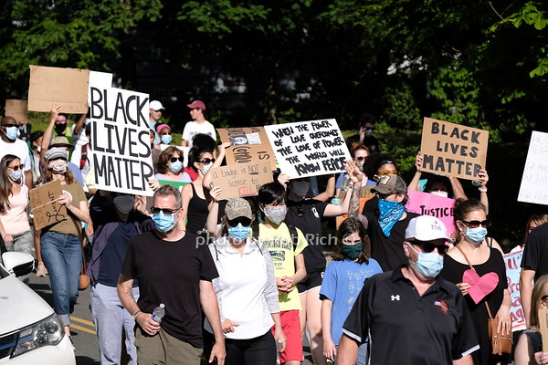 June 7, 2020: Black Live Matter Rally & March in Sea Cliff. photo by Rob Rich/SocietyAllure.com ©2020 robrich101@gmail.com 516-676-3939