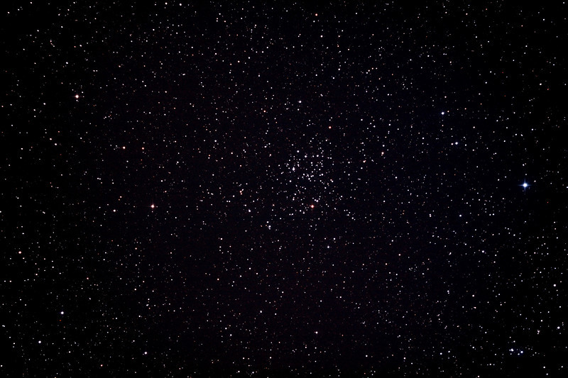 Messier M50 - NGC2323 Open Cluster in Monoceros  2/2/2013 (Processed stack)  DeepSkyStacker 3.3.2 Stacked 85% of 6 Images ISO 800 120 Sec, 43 DARK, 75 BIAS, 0 FLATS, Post-processed with Adobe Photoshop CS5  Telescope - Bintel BT200 f/4.0 Newtonian (borrowed from Stephen Boyd) with Baader MPCC Coma Corrector, Hutech LPS-P2 filter, Canon 40D DSLR field 64' x 95', Ambient 23C.  EQMOD EQASCOM with Ascom 6 for mount countrol. Backyard EOS 2.09 for Image acquisition. Mount - Skywatcher NEQ6 Pro. Guidescope - Orion ShortTube 80 with Starlight Xpress Superstar (mono) CCD guide camera and Stark Labs PHD auto guiding software.