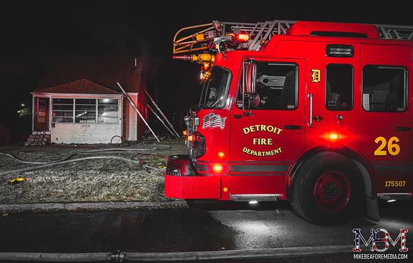 Detroit MI, House Fire 1-23-2021