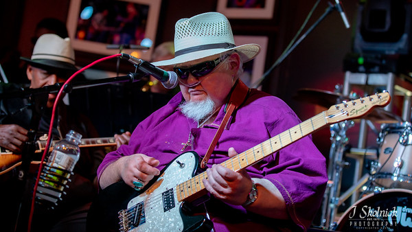 Bryan Lee with Joey Gilmore Funky Biscuit with Sonny Boy, B3 George Caldwell,, bass, Maurice Dukes, drums, Darrell Raines, guitar, Rob Miller, TSax, Emmanuel Lima, Trumpet, Keanue Reedz, BSax jskolnickphotography