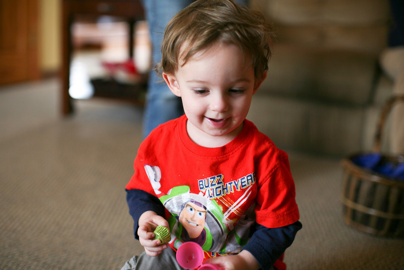 Hunter Grabiec during an early Easter celebration with the family in Oak Forest, Illinois on April 17, 2011.  (Jay Grabiec)