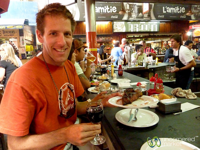 Lunchtime Steak and Wine - Montevideo, Uruguay