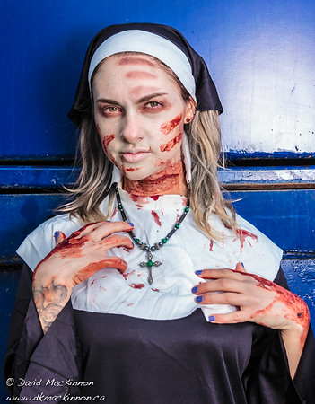Zombie Nun Makeup