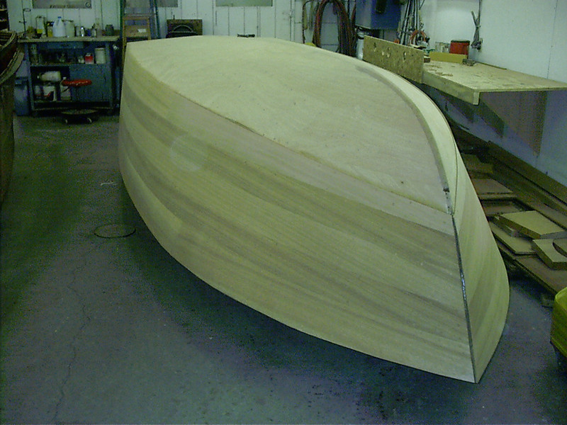 Port front view of plugs cut and side farred and sanded.