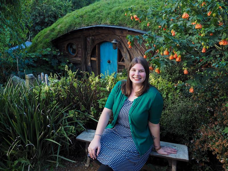 Amanda at Hobbiton