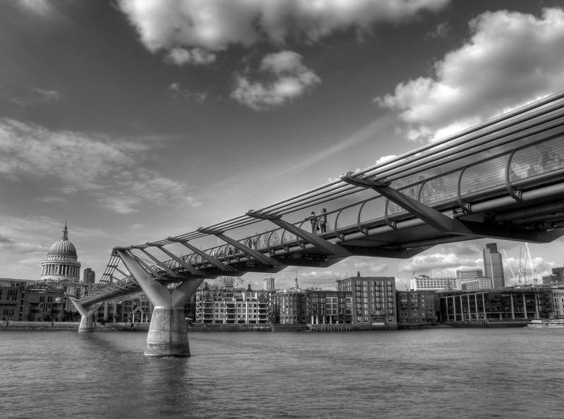 Millennium Bridge - London, UK - May 1, 2009