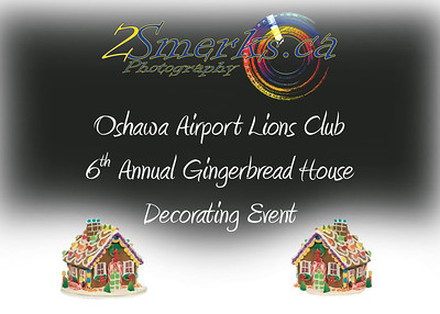 Oshawa Airport Lions Gingerbread House Decorating and Santa Pictures 2017