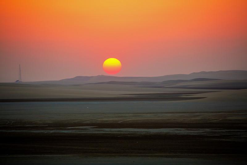 Desert sunset, Southern Qatar