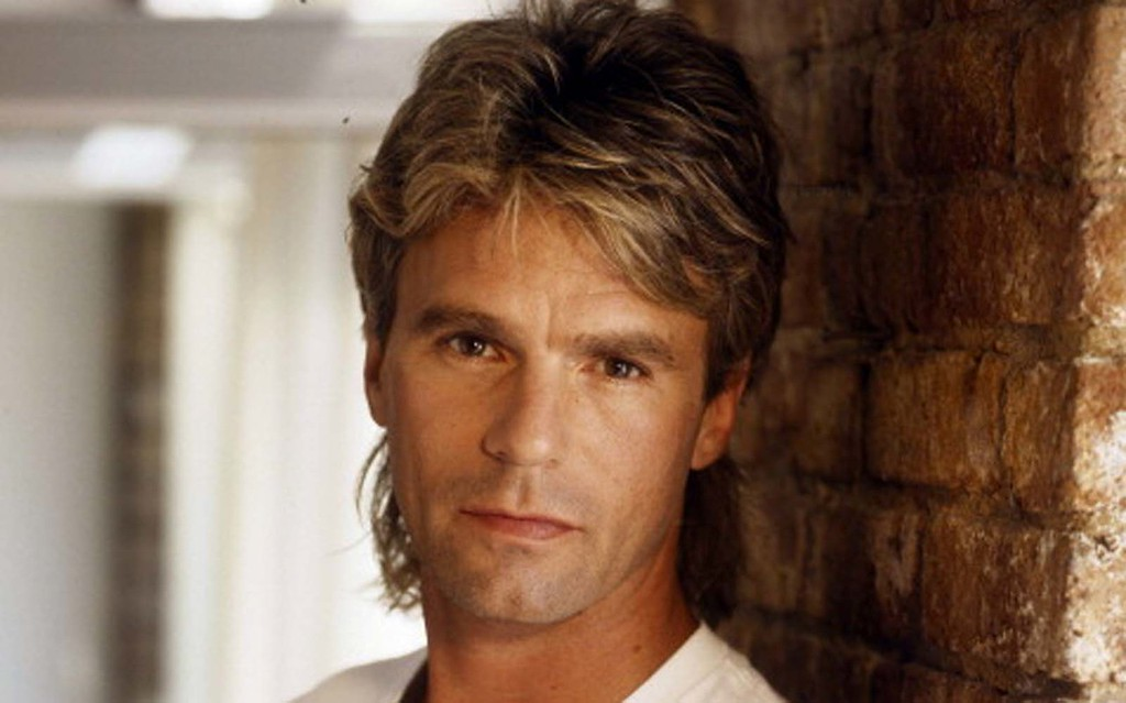 ". Here\'s a ""MacGuyver\"" promo shot of Anderson from the height of his hair -- er, career. (ABC Photo Archives)"