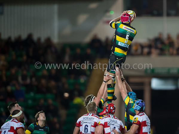 Northampton Saints vs Gloucester Rugby, Aviva Premiership, Franklin's Gardens, 28 October 2016