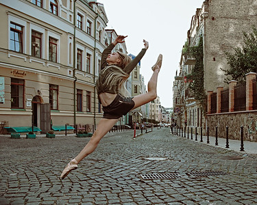 Ballet in the City. With Ilona