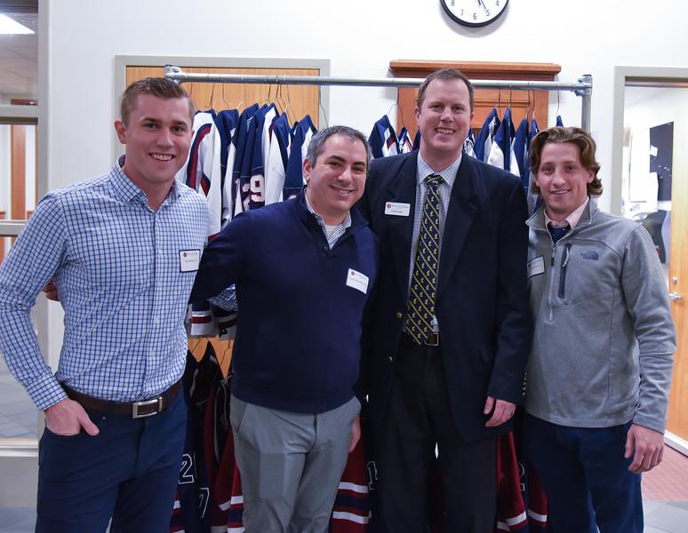 Pat Mullane '09, Vinny Montalbano '00, Chris Webb and Travis Kozak '14