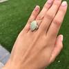 5.01ct Art Deco Opal and Diamond Ring 13