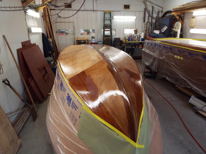 Three coats of epoxy applied to the bottom.