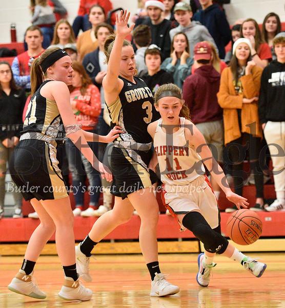 High School Basketballball-Grove City High at Slippery Rock High