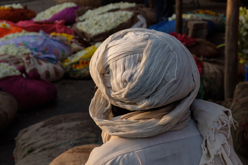 Flower market, Jaipur, India
