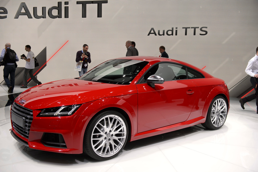 . The new Audi TTS is presented during the press day at the 84rd Geneva International Motor Show in Geneva, Switzerland, Tuesday, March 4, 2014. The Motor Show will open its gates to the public from 06 to 16 March presenting more than 250 exhibitors and more than 146 world and European premieres.  EPA/MARTIAL TREZZINI