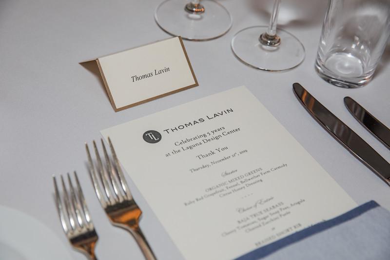 Luxe Thomas Lavin Dinner