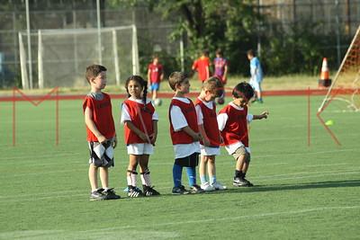 BROOKLYN - JUNE 29: Players compete at  Brooklyn Italians Soccer Academy practice at John Dewey High School on Tuesday, June 29, 2010 in Brooklyn, NY.