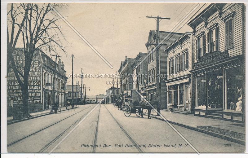 (Port) Richmond Avenue looking toward ferry, Port Richmond