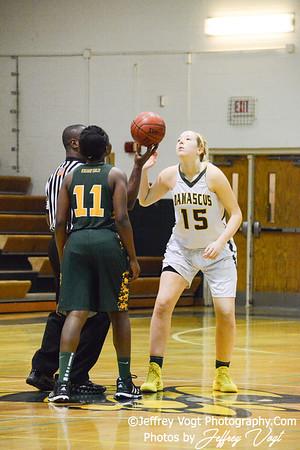 01-08-2014 Damascus HS vs Seneca Valley HS Varsity Girls Basketball, Photos by Jeffrey Vogt Photography