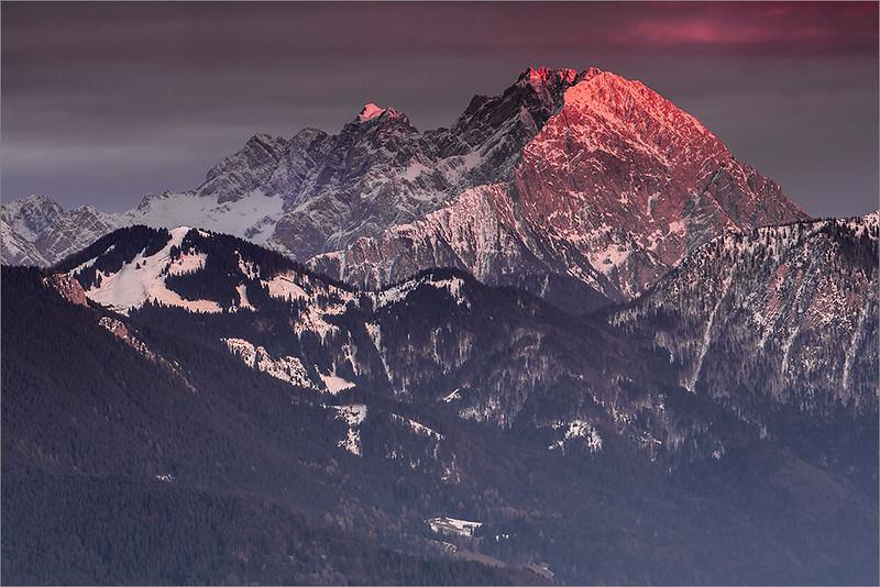 Kamniško-Savinijske Alps seen from Dobrča
