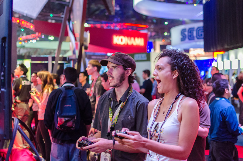 Enthusiastic gamers at E3 2012
