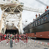 Launch of barge Prometheus at Gunderson Marine, Portland, Oregon, 3/15/2014